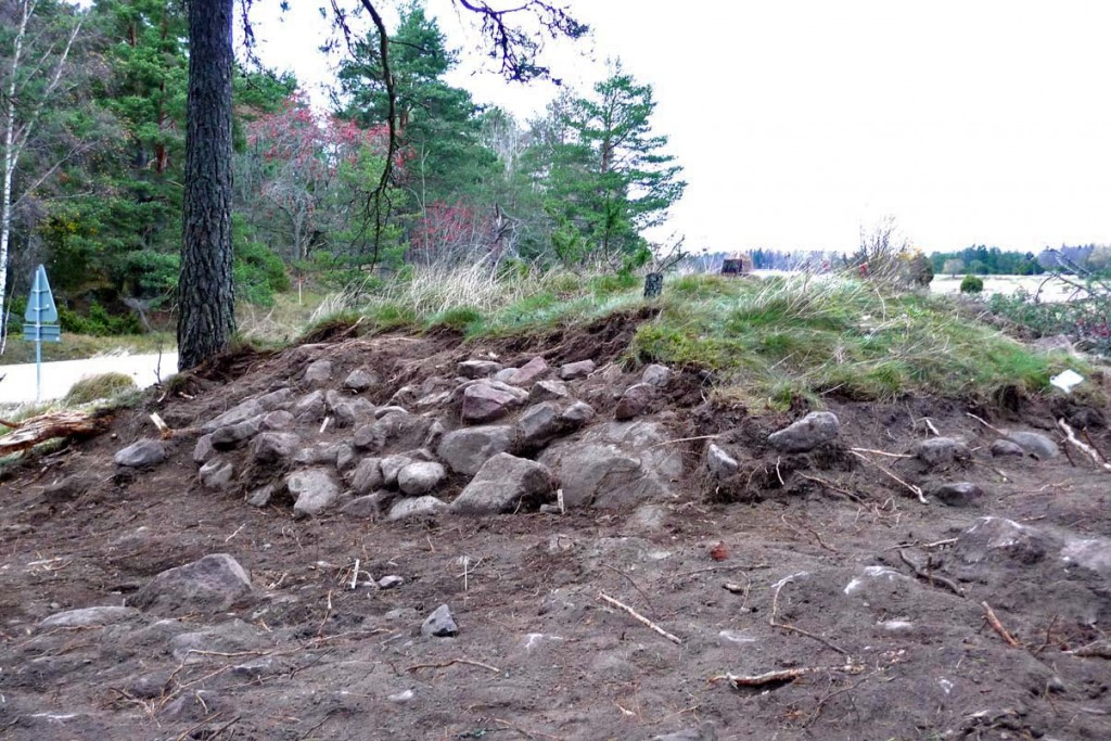 Stensättningen som den såg ut efter framrensningen vid förundersökningen.